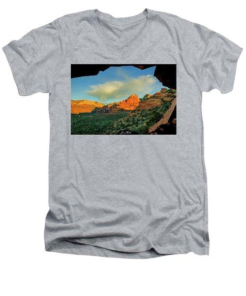 Mescal Mountain 04-012 Men's V-Neck T-Shirt by Scott McAllister