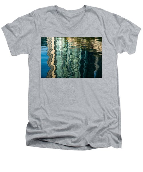 Mesmerizing Abstract Reflections Two Men's V-Neck T-Shirt