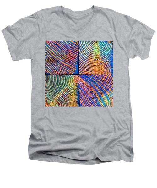 Rainbow Powerwood Men's V-Neck T-Shirt