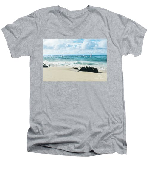 Men's V-Neck T-Shirt featuring the photograph Messengers Of Light by Sharon Mau