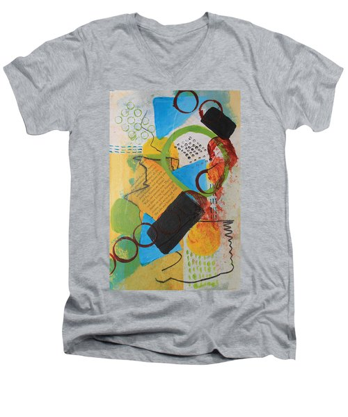Messy Circles Of Life Men's V-Neck T-Shirt