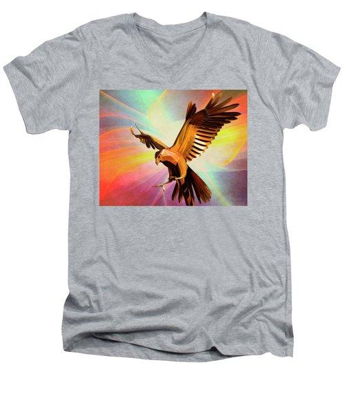 Metal Bird 1 Of 4 Men's V-Neck T-Shirt