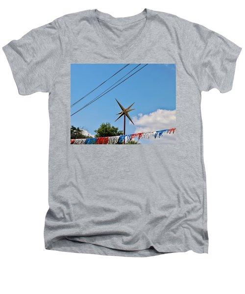 Metal Star In The Sky Men's V-Neck T-Shirt