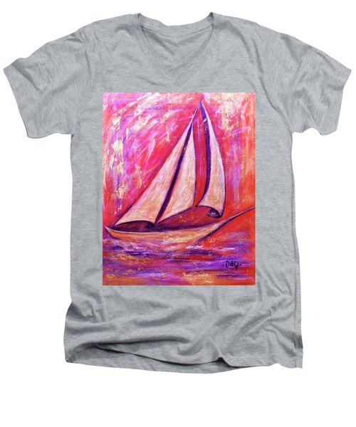 Metallic Sails Men's V-Neck T-Shirt