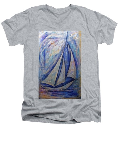 Metallic Seas Men's V-Neck T-Shirt