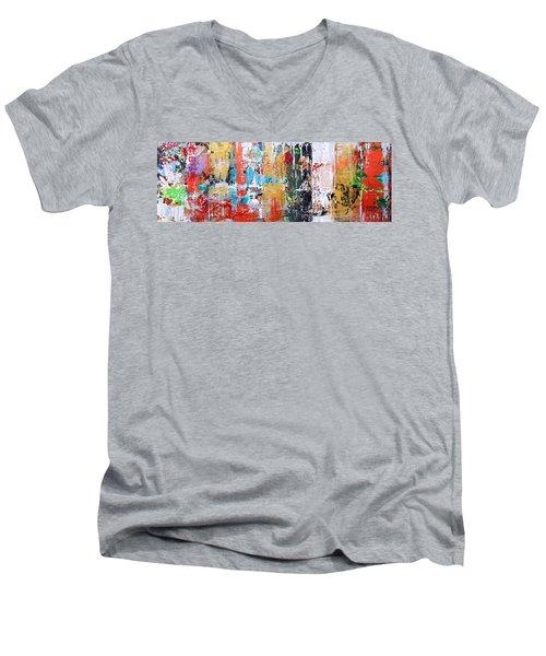 Metallic Winter Men's V-Neck T-Shirt