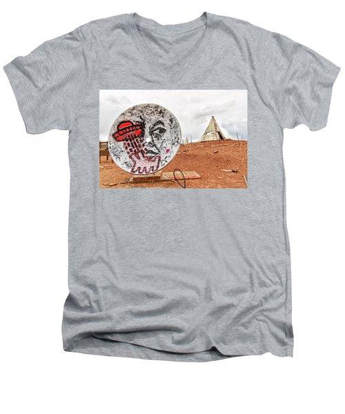 Meteor City Trading Post 11 Men's V-Neck T-Shirt