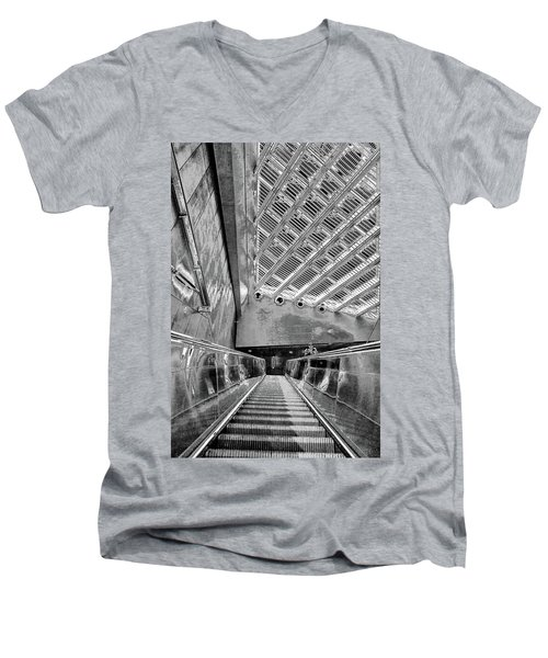 Metro Line 4 Structures, Budapest 3 Men's V-Neck T-Shirt