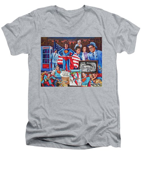 Metroplis 3 Men's V-Neck T-Shirt