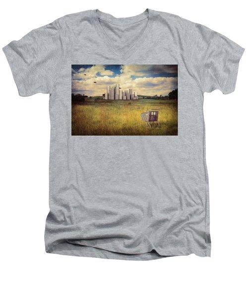 Men's V-Neck T-Shirt featuring the photograph Metropolis by Tom Mc Nemar