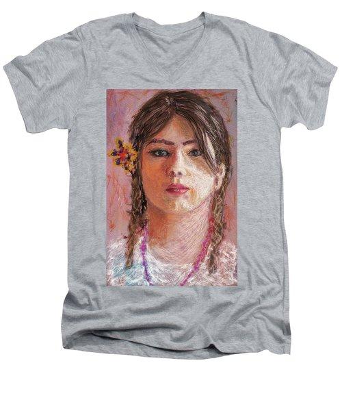 Mexican Girl Men's V-Neck T-Shirt