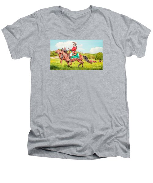 Mexican Horse Soldiers Men's V-Neck T-Shirt by Kim Henderson