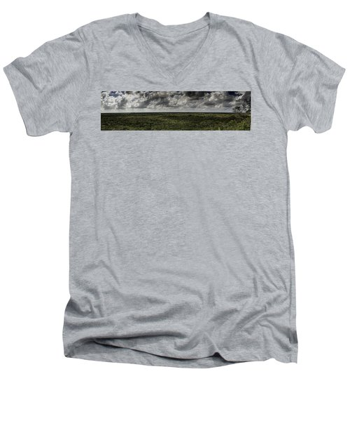 Men's V-Neck T-Shirt featuring the photograph Mexican Jungle Panoramic by Jason Moynihan