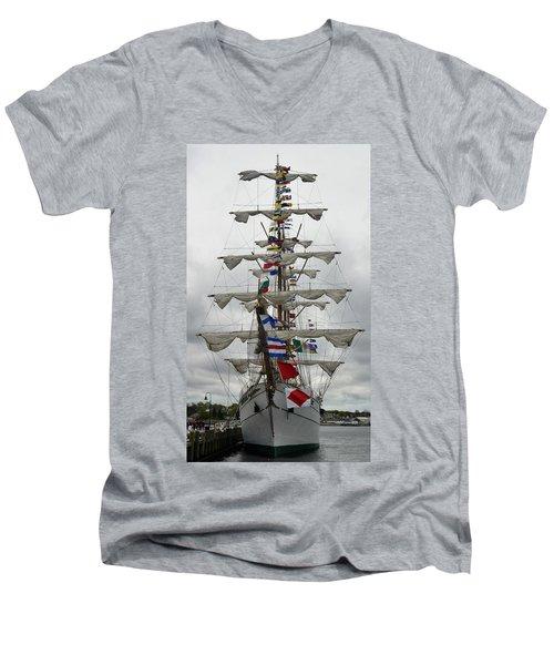 Mexican Navy Ship Men's V-Neck T-Shirt