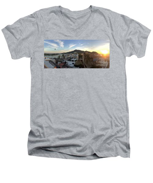 Men's V-Neck T-Shirt featuring the photograph Mexico Memories 3 by Victor K