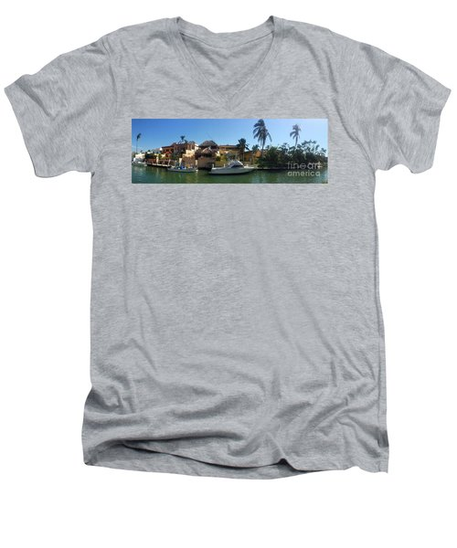 Men's V-Neck T-Shirt featuring the photograph Mexico Memories 5 by Victor K