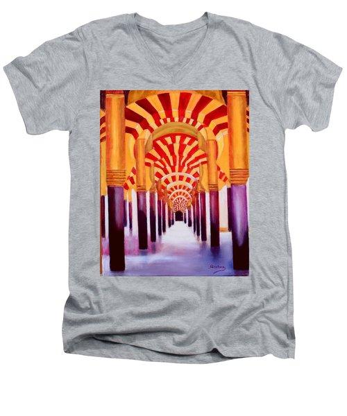 Mezquita De Cordoba Men's V-Neck T-Shirt by Manuel Sanchez