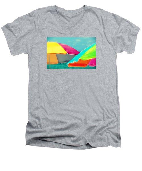 Miami Beach 1 Men's V-Neck T-Shirt by France Laliberte