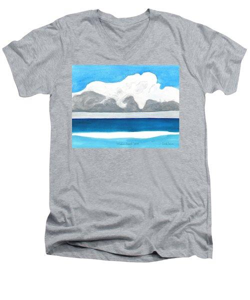 Miami Beach, Florida Men's V-Neck T-Shirt by Dick Sauer