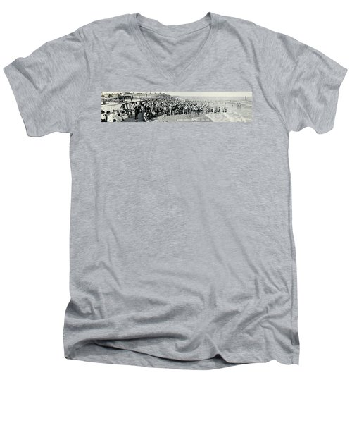 Miami Beach Sunbathers 1921 Men's V-Neck T-Shirt