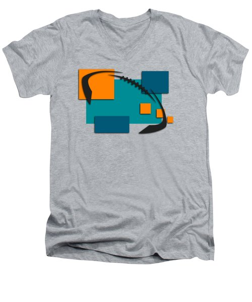 Miami Dolphins Abstract Shirt Men's V-Neck T-Shirt