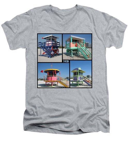 Miami Huts Men's V-Neck T-Shirt