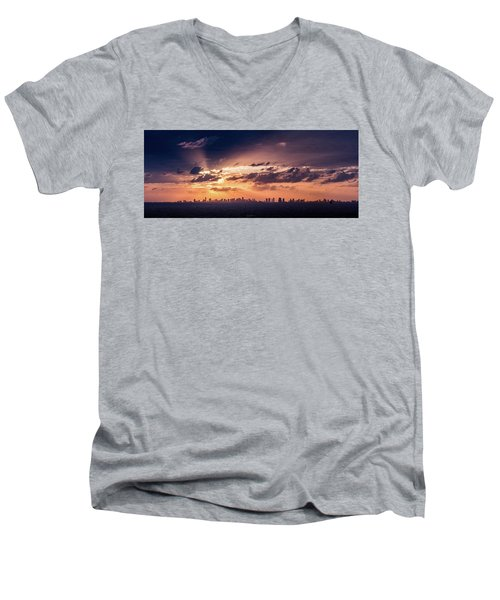 Miami Sunset Pano Men's V-Neck T-Shirt