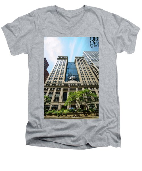 Michael A Bilandic Building Chicago Men's V-Neck T-Shirt by Deborah Smolinske