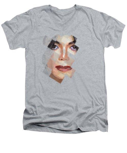 Michael Jackson T Shirt Edition  Men's V-Neck T-Shirt by Yury Malkov