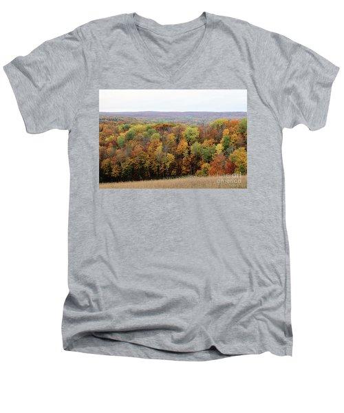 Michigan Autumn Men's V-Neck T-Shirt