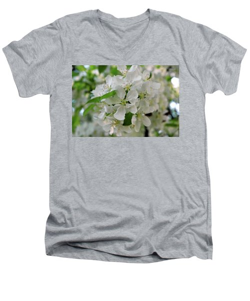 Men's V-Neck T-Shirt featuring the photograph Michigan State Flower by LeeAnn McLaneGoetz McLaneGoetzStudioLLCcom