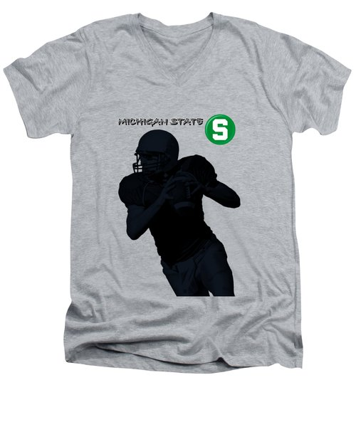 Michigan State Football Men's V-Neck T-Shirt