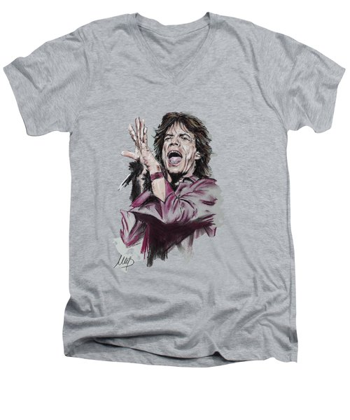 Mick Jagger Men's V-Neck T-Shirt