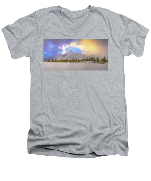 Mid-winter Sunset Men's V-Neck T-Shirt