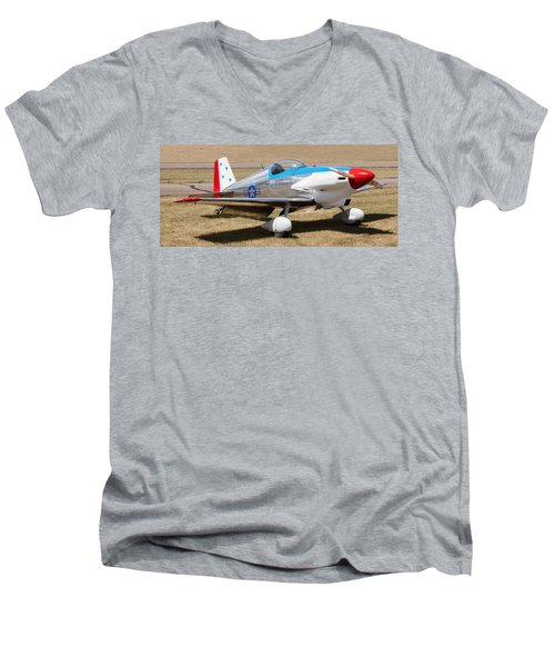 Men's V-Neck T-Shirt featuring the photograph Midget Mustang by Fran Riley