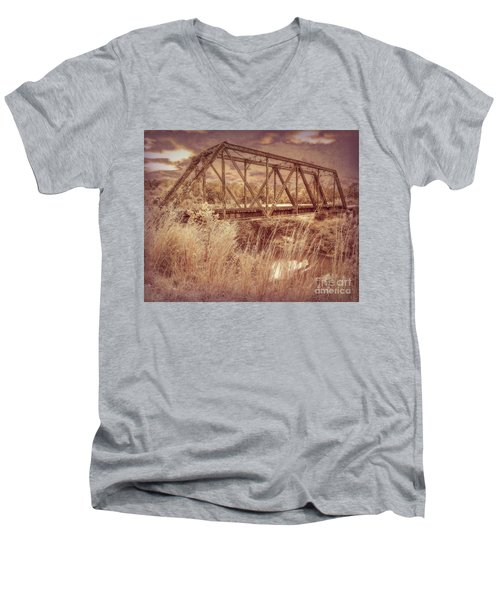 Midnight Crossing Men's V-Neck T-Shirt
