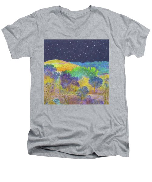 Midnight Trees Dream Men's V-Neck T-Shirt