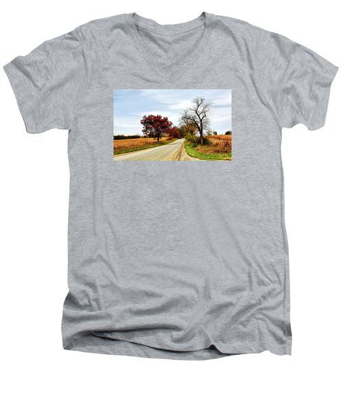 Midwest Autumn  Men's V-Neck T-Shirt