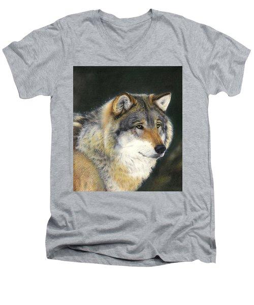 Midwinter Sunrise Men's V-Neck T-Shirt