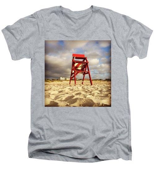 Mighty Red Men's V-Neck T-Shirt