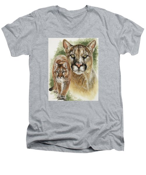 Mighty Men's V-Neck T-Shirt by Barbara Keith