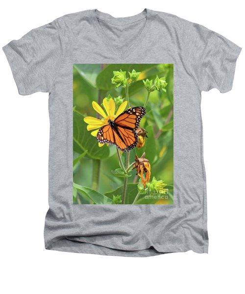 Mighty Monarch   Men's V-Neck T-Shirt