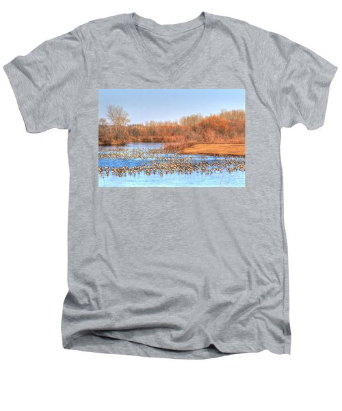 Migration Break On Ice Men's V-Neck T-Shirt