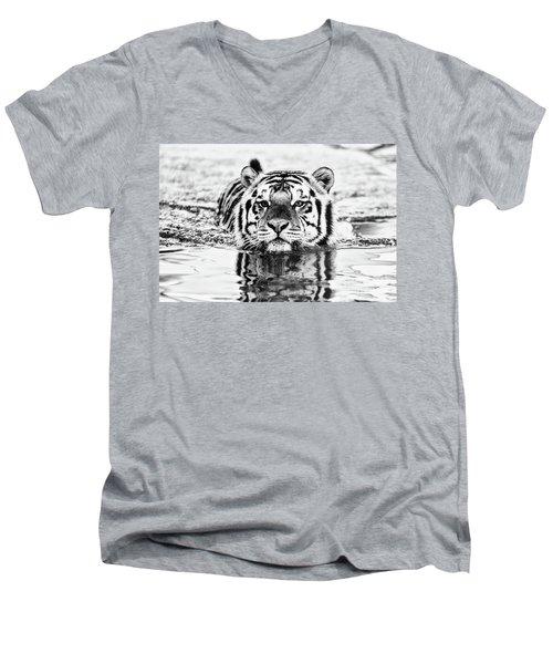 Mike Men's V-Neck T-Shirt by Scott Pellegrin