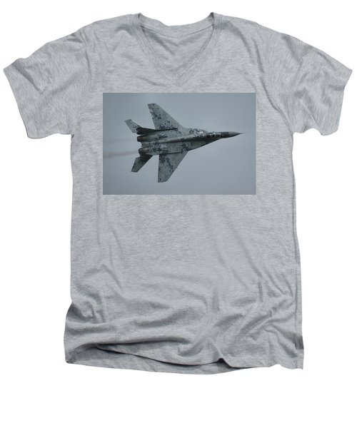 Mikoyan-gurevich Mig-29as  Men's V-Neck T-Shirt by Tim Beach