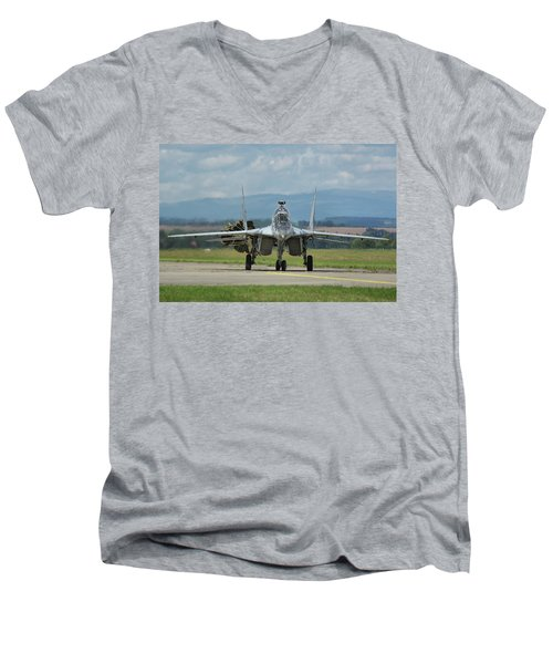 Mikoyan-gurevich Mig-29ubs Men's V-Neck T-Shirt by Tim Beach