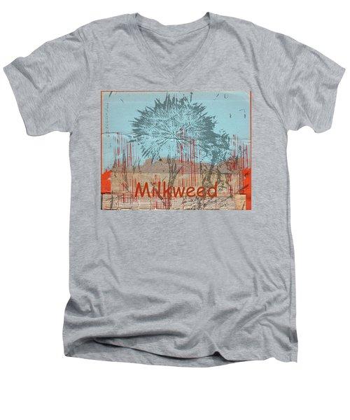 Milkweed Collage Men's V-Neck T-Shirt
