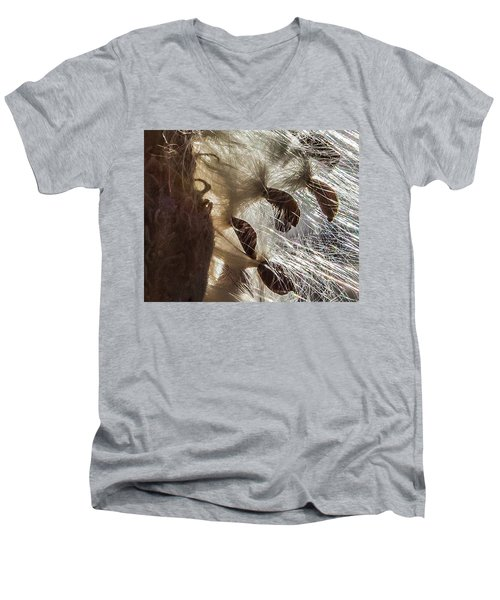 Milkweed Seed Burst Men's V-Neck T-Shirt