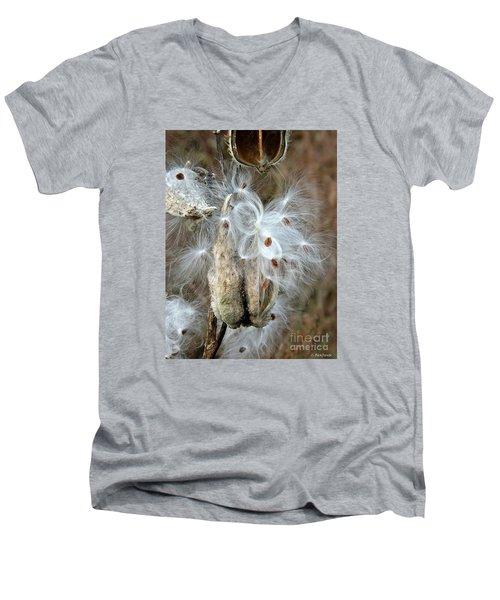 Milkweeds Seeds  Men's V-Neck T-Shirt