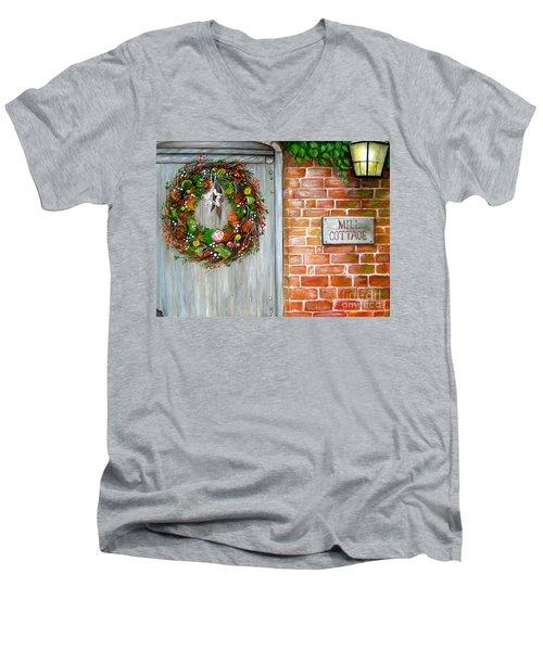 Mill Cottage Men's V-Neck T-Shirt by Patrice Torrillo